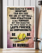 YOUR CHARACTER IS MORE softball 16x24 Poster lifestyle-poster-4