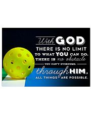 PICKLEBALL - WITH GOD 17x11 Poster front