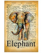 007 Elephant Mixed Parchment Poster STAR 11x17 Poster front