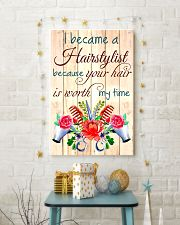 I BECAME A HAIRSTYLIST BECAUSE YOU HAIR POSTER 11x17 Poster lifestyle-holiday-poster-3