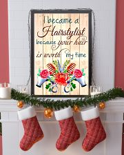 I BECAME A HAIRSTYLIST BECAUSE YOU HAIR POSTER 11x17 Poster lifestyle-holiday-poster-4