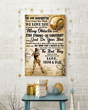 5 TO MY DAUGHTER - I LOVE YOU - Softball 11x17 Poster lifestyle-holiday-poster-3