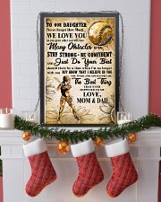 5 TO MY DAUGHTER - I LOVE YOU - Softball 11x17 Poster lifestyle-holiday-poster-4