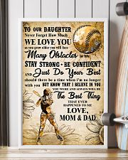 5 TO MY DAUGHTER - I LOVE YOU - Softball 11x17 Poster lifestyle-poster-4