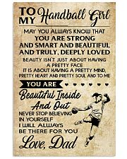 TO MY HANDBALL GIRL- DAD 16x24 Poster front