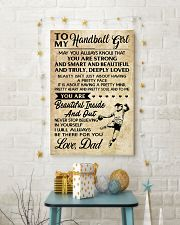 TO MY HANDBALL GIRL- DAD 16x24 Poster lifestyle-holiday-poster-3