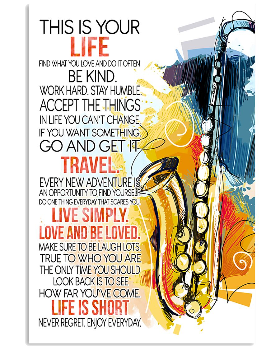 saxophone this is your life poster- LQT 01 16x24 Poster