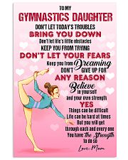 GYMASTICS - DON'T LET TODAY'S TROUBLES POSTER 11x17 Poster front
