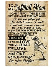 Softball - Loving Words Poster SKY 11x17 Poster front