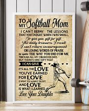 Softball - Loving Words Poster SKY 11x17 Poster lifestyle-poster-4