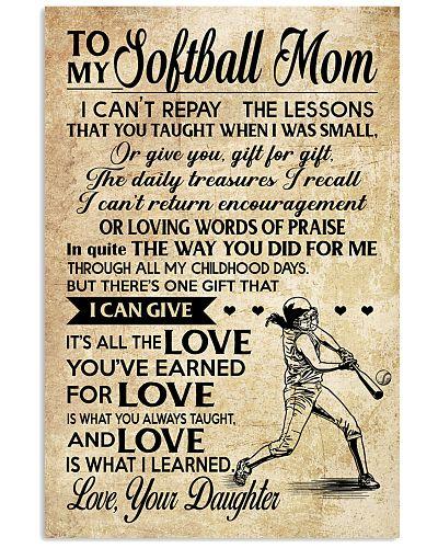 Softball - Loving Words Poster SKY