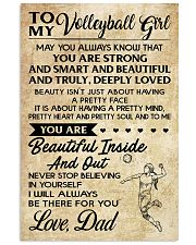 TO MY volleyball girl - DAD  16x24 Poster front