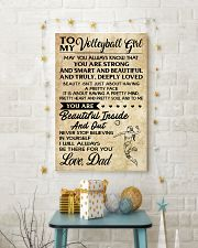 TO MY volleyball girl - DAD  16x24 Poster lifestyle-holiday-poster-3