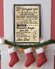 TO MY volleyball girl - DAD  16x24 Poster lifestyle-holiday-poster-4