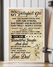 TO MY volleyball girl - DAD  16x24 Poster lifestyle-poster-4