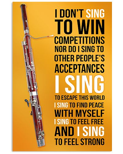 12- BASSOON - I DON'T SING TO WIN COMPETITIONS