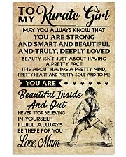 14 TO MY Karate Girl 16x24 Poster front