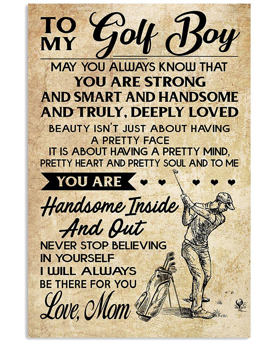 TO MY GOLF BOY - MOM 16x24 Poster