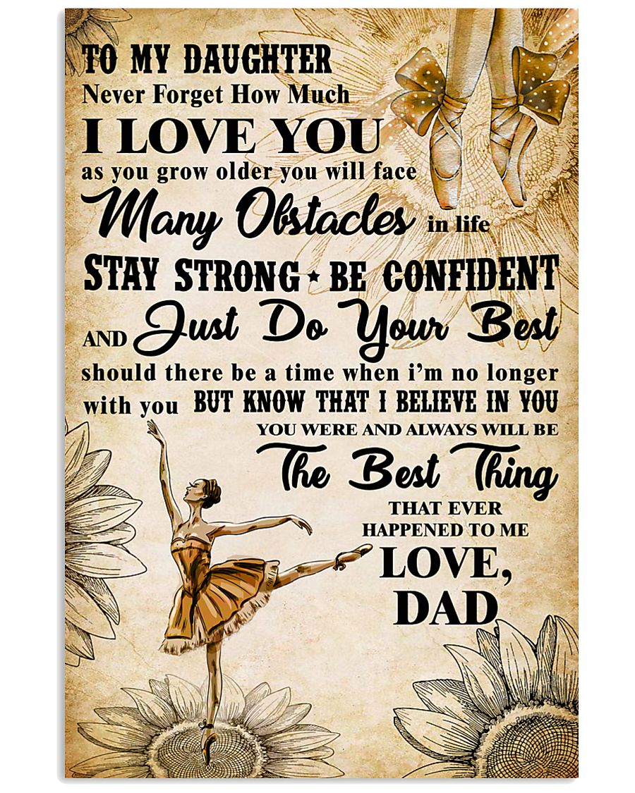 TO MY DAUGHTER - I LOVE YOU -Dance 11x17 Poster