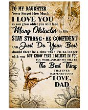 TO MY DAUGHTER - I LOVE YOU -Dance 11x17 Poster front