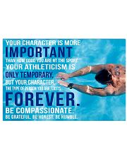 4 YOU CHARACTER IS MORE IMPORTANT SWIMMING POSTER  36x24 Poster front