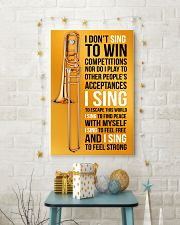 8 TROMBONE - I DON'T SING TO WIN COMPETITION 11x17 Poster lifestyle-holiday-poster-3