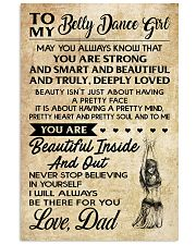 TO MY BELLY DANCE GIRL- DAD 16x24 Poster front