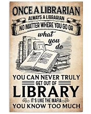 Once a Librarian Poster 11x17 Poster front