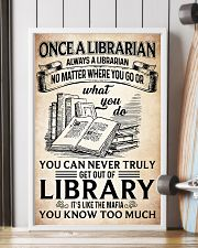 Once a Librarian Poster 11x17 Poster lifestyle-poster-4