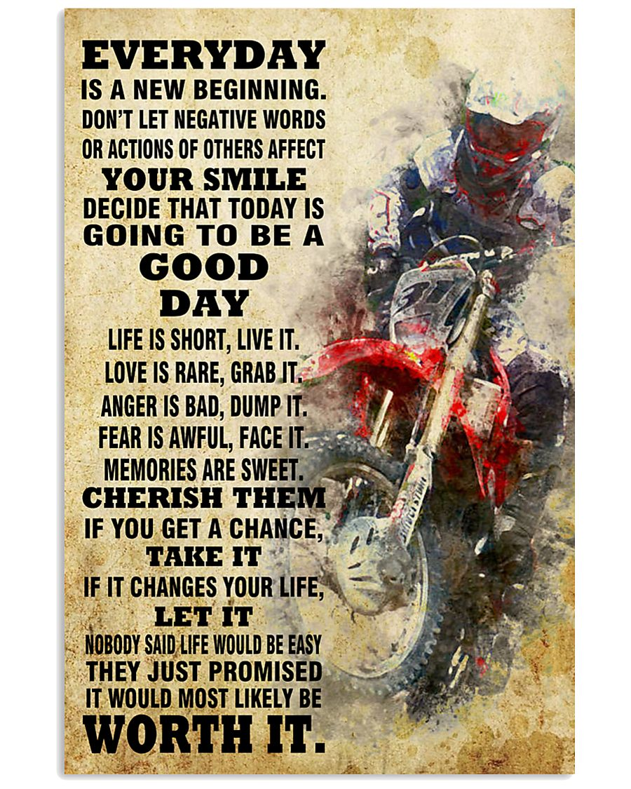 motocross EVERYDAY IS A NEW 11x17 Poster