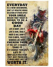 motocross EVERYDAY IS A NEW 11x17 Poster front