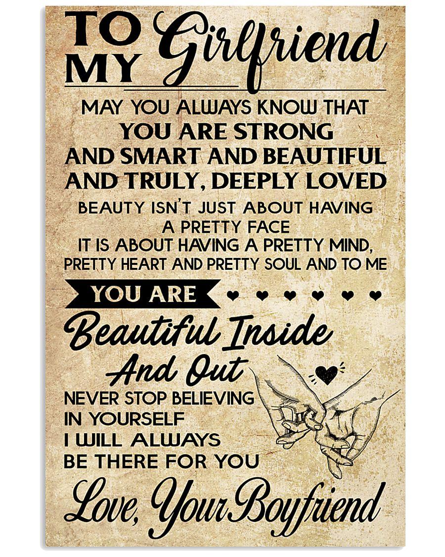TO MY GIRLFRIEND- YOUR BOYFRIEND 16x24 Poster