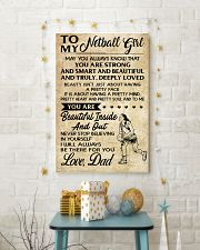 TO MY NETBALL GIRL- DAD 16x24 Poster lifestyle-holiday-poster-3