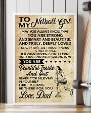 TO MY NETBALL GIRL- DAD 16x24 Poster lifestyle-poster-4