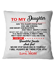 TO MY DAUGHTER Square Pillowcase thumbnail