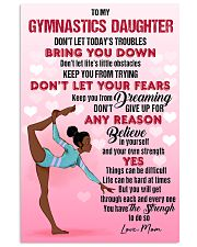 GYMNAST BLACK - DON'T LET TODAY'S TROUBLES POSTER 11x17 Poster front