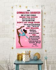 GYMNAST BLACK - DON'T LET TODAY'S TROUBLES POSTER 11x17 Poster lifestyle-holiday-poster-3