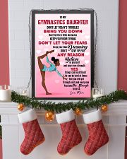 GYMNAST BLACK - DON'T LET TODAY'S TROUBLES POSTER 11x17 Poster lifestyle-holiday-poster-4