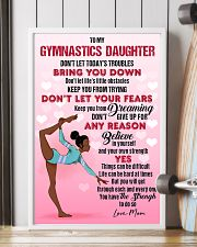 GYMNAST BLACK - DON'T LET TODAY'S TROUBLES POSTER 11x17 Poster lifestyle-poster-4