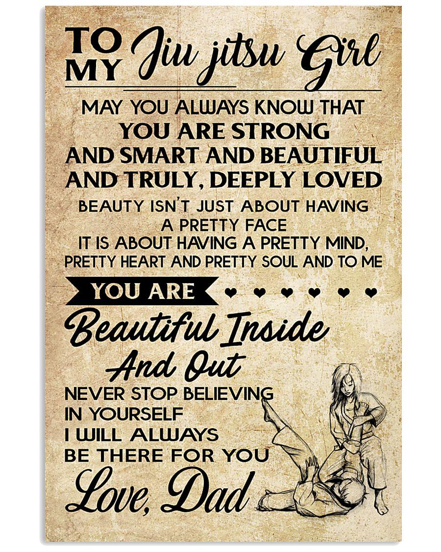 TO MY JIU JITSU GIRL - DAD 16x24 Poster