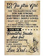 TO MY JIU JITSU GIRL - DAD 16x24 Poster front
