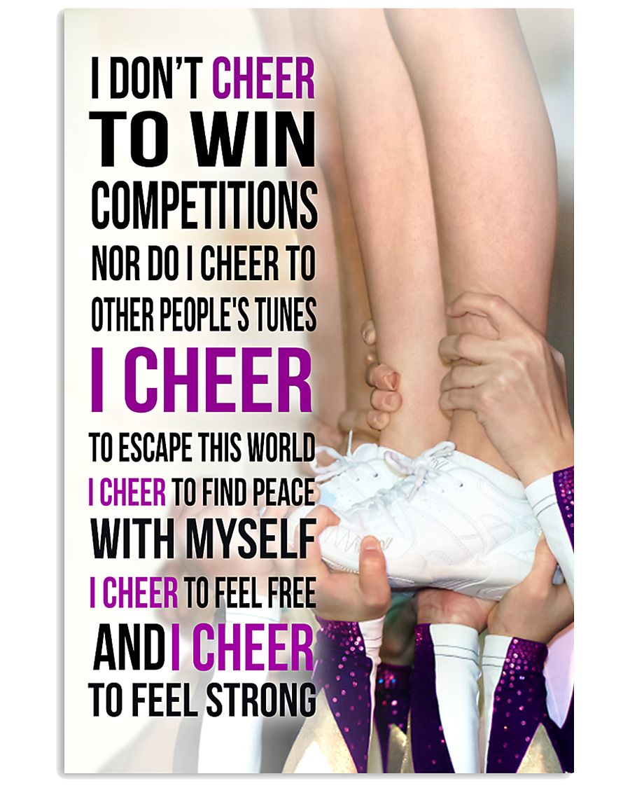 22 - I DON'T CHEER TO WIN COMPETITIONS - PURPLE 11x17 Poster