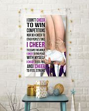 22 - I DON'T CHEER TO WIN COMPETITIONS - PURPLE 11x17 Poster lifestyle-holiday-poster-3