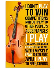 CELLO - I DON'T PLAY TO WIN COMPETITIONS 11x17 Poster front