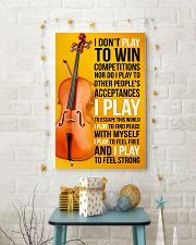 CELLO - I DON'T PLAY TO WIN COMPETITIONS 11x17 Poster lifestyle-holiday-poster-3