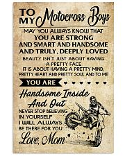 5 TO MY Motocross Boys - Mom 11x17 Poster front