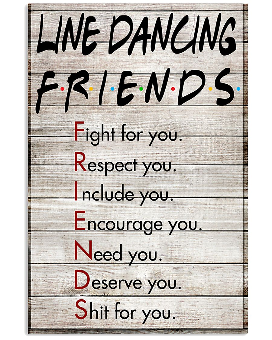 1 Line Dancing Friends - Poster 11x17 Poster