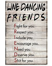 1 Line Dancing Friends - Poster 11x17 Poster front