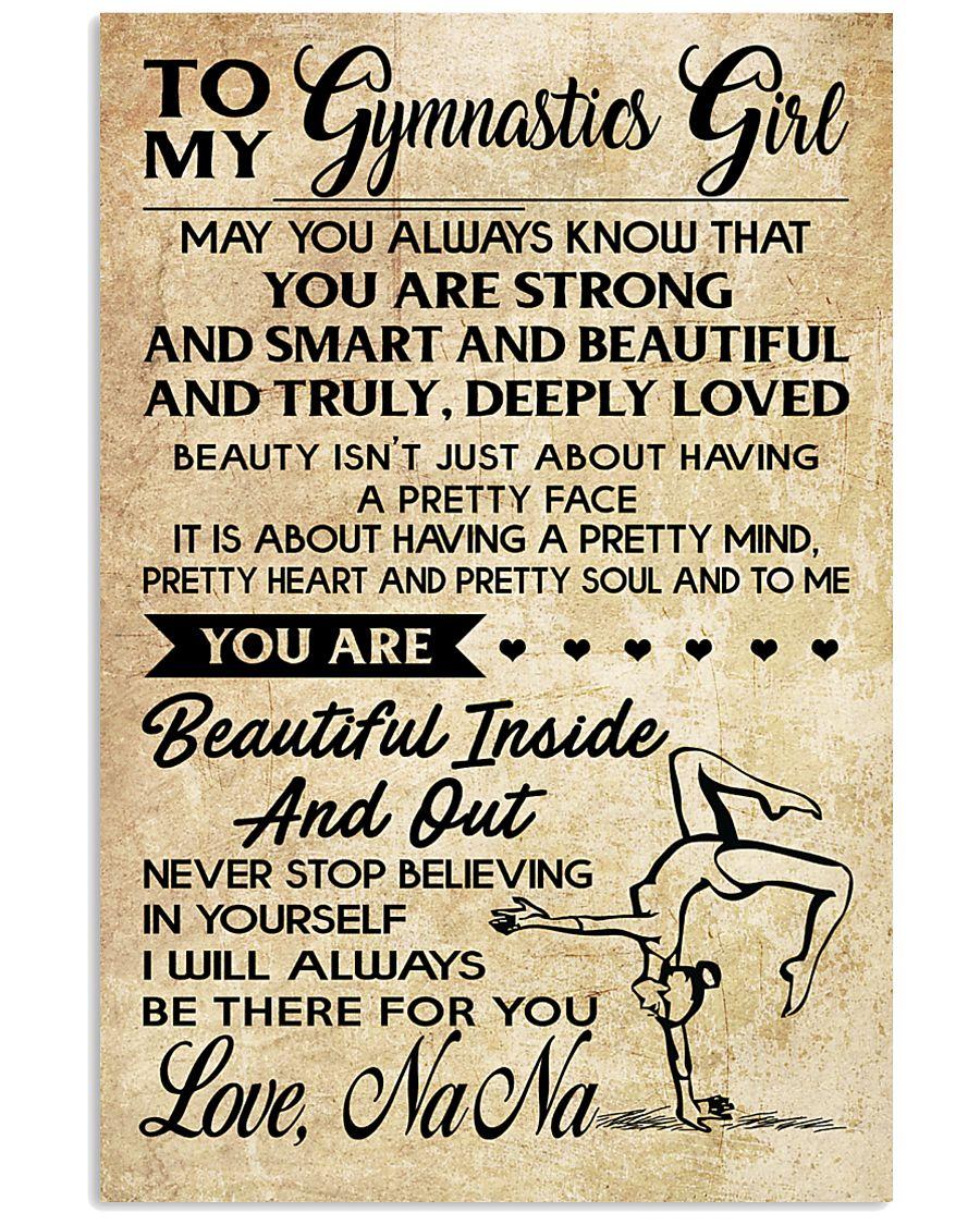 1 TO MY  Gymnastics Girl 11x17 Poster