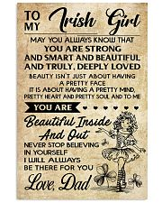 TO MY Irish Girl - DAD 16x24 Poster front